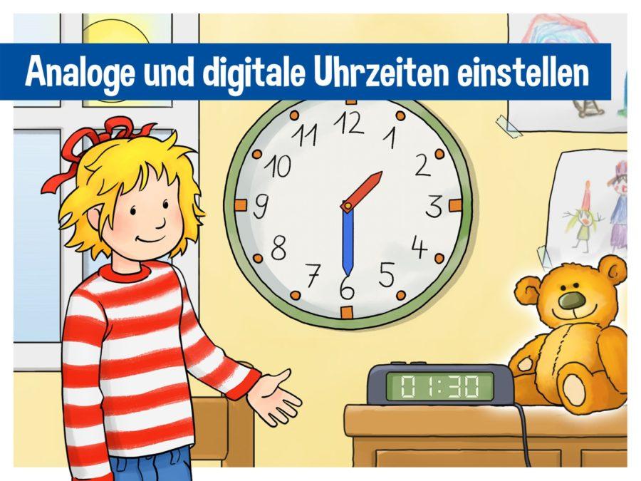 Conni - Analoge und digitale Uhrzeiten einstellen