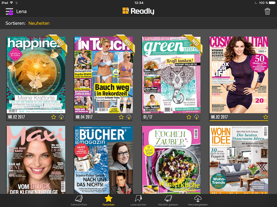 Readly - Favoriten Screenshot Booklovin