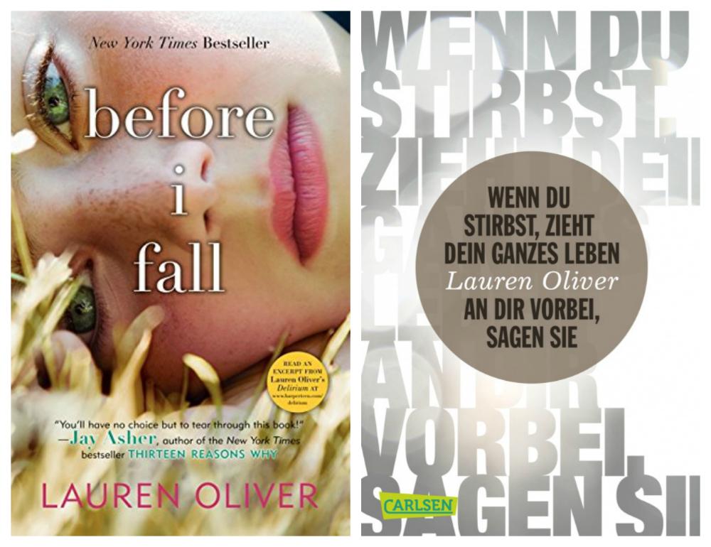 Lauren Oliver - Before I Fall (englisches und deutsches Cover)