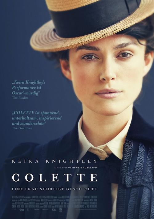 Hauptplakat des Biopic COLETTE mit Keira Knightley in der Hauptrolle