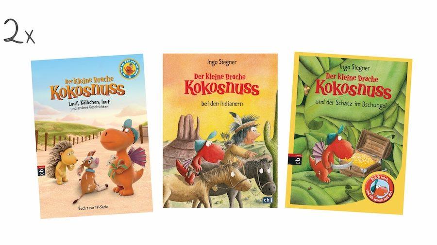 """Gewinnspielpreise zum Kinostart von """"Drache Kokosnuss 2""""."""