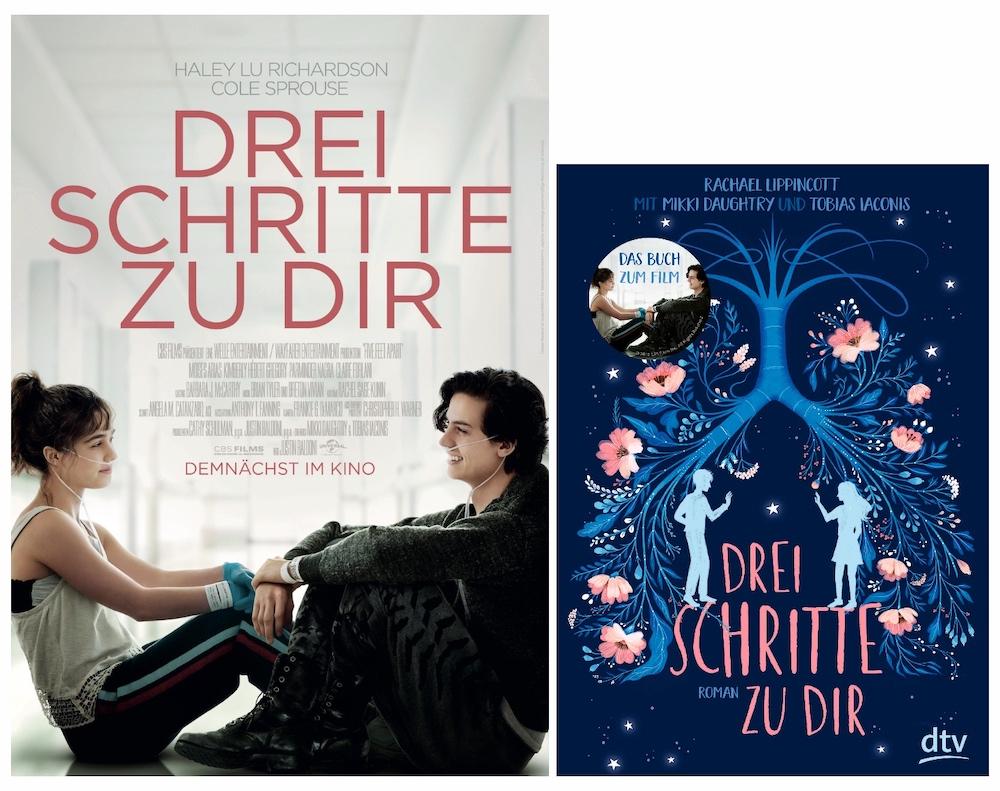 Drei Schritte zu dir - Film vs. Buch