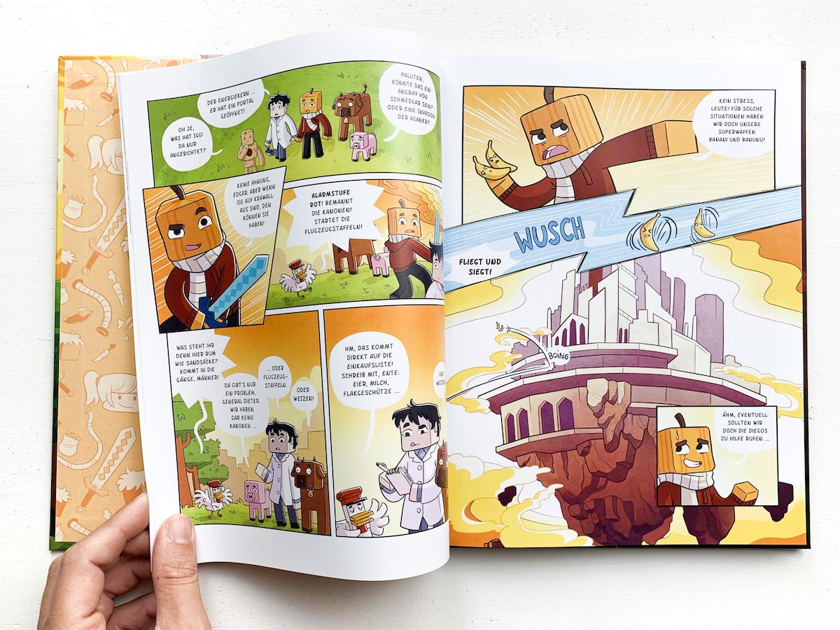 Blick ins Buch - Paluten - Freedom. Der Golemkönig. Ein Minecraft-Comic