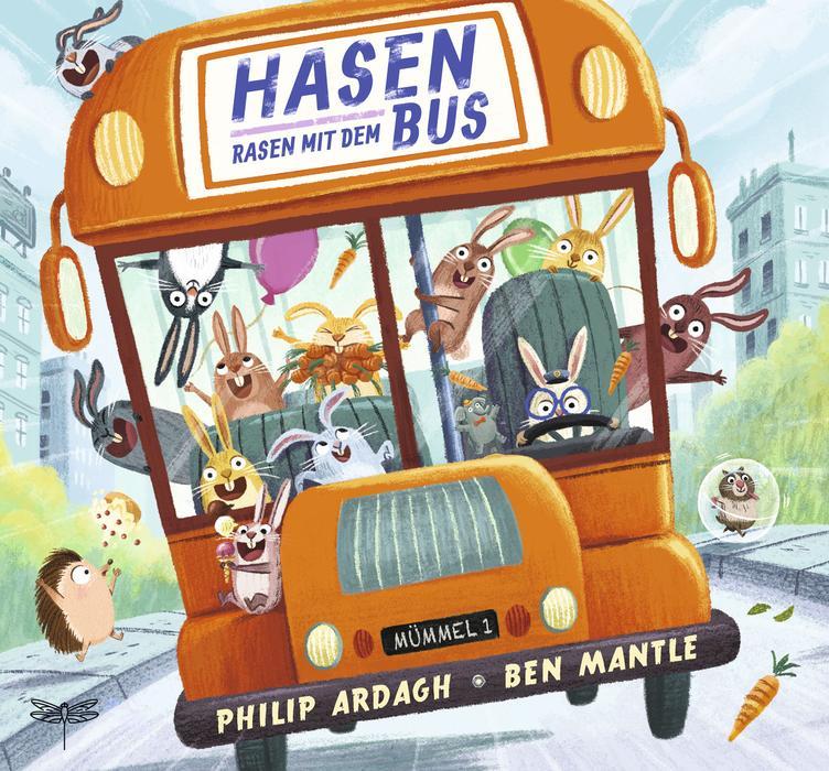 """Buchcover """"Hasen rasen mit dem Bus"""" von Philip Ardagh"""
